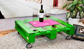 Diy Pallet Furniture Ideas Green Painted Couch Table