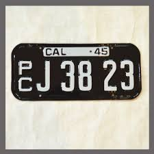 1945 1946 California YOM License Plate For Sale - Restored Vintage ...