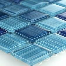 details zu muster kristall glas mosaik fliesen lafayette gestreift blau badezimmer wand