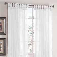 Brylane Home Curtain Panels by Brylanehome Studio Voile Tab Top Panel Sheer Curtains