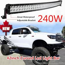 42 240W Curved LED Light Bar Flood Spot Combo Beam Waterproof ... Baja Designs Onx6 Arc Racer Edition Curved Drivingcombo Beam 40 Inch 200w Led Light Bar Spotflood Combo 15800 Lumens Cree Zroadz Front Roof Mounting Kit With 52 50 250w 21400 54in Upper Windshield Brackets For 02 How To Install A Ford Superduty Mount Socal Custom Offsets Offroad Bars Light Bar Added To Our Windshield Utility Httpwwwlmrkcomproductvideosled Are Truck Caps Partners With Rigid Lights Shine Bright 60 Tailgate Autocsories Mounted Under The Front Bumper F150 Forum Bars Are Available All Kinds Of Trucks And Offroad