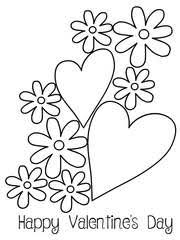 Valentines Day Coloring Card 2