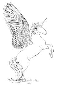 How To Draw A Unicorn With Wings Coloring Pages For Kids Page