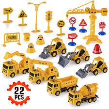 100 Construction Trucks 22Piece Toy Set For Kids