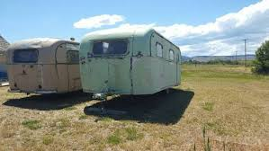 The Perfect Start To Your Own Little Village A Matching Pair Of 1940s Alma Travel Trailers Each These Has Single Bedroom Then Bathroom Kitchen And