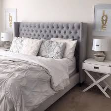Brilliant Best 25 Gray Bed Ideas On Pinterest Bedding Beautiful Frame Prepare Bedroom
