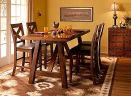 royce 5 pc counter height dining set brown raymour flanigan