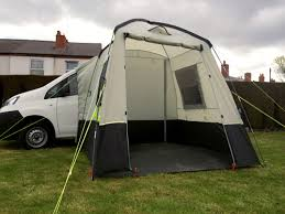 Commonly A Drive Away Freestanding Awning Is Pitched Very Close Within 100cm Of The Vehicle And Short Tunnel Section Comprising Roof