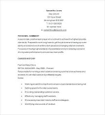 Retail Management Resume Samples Example Manager Summary Examples
