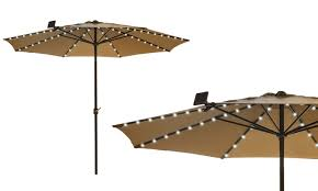 Solar Led Patio Umbrella by Solar Patio Umbrella Led String Lights 1 2 Or 3 Pack Groupon