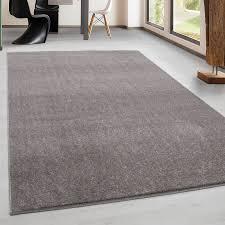 teppich kurzflor modern wohnzimmer einfarbig meliert uni günstig beige größe 60x100 cm