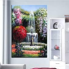 fontaine de bureau grand mur peinture de fontaine de bureau à domicile décoration
