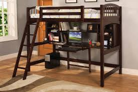 wooden full bunk bed with desk u2014 all home ideas and decor