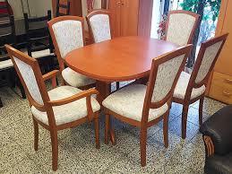 esstisch ausziehbar 6 stühle gepolstert kirschbaum gebraucht