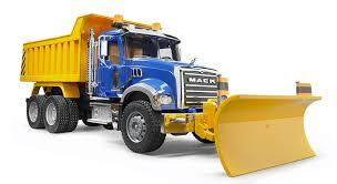 100 Rc Truck Snow Plow Bruder Mack Granite Dump With Blade Amazon