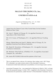 100 Mclean Trucking McLean Co V United States 321 US 67 1944 United