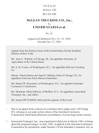100 Mclean Trucking McLean Co V United States 321 US 67 1944 United