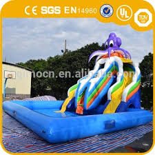 Hot Sell Inflatable Octopus Slide With PoolInflatable Pool Slides
