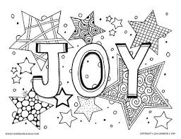 Joy Coloring Page For Adults And Grown Ups Holiday Printable Pages Decorating