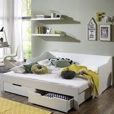 daybed mit 2 schubladen liegefläche 90 180 x 200 cm weiß