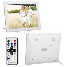 cadre photo numérique grand format ecran tft lcd 12 pouces 4 3 blanc