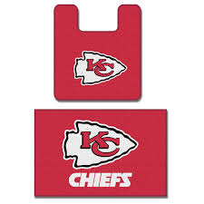 Red Bathroom Rug Set by Amazon Com Nfl Kansas City Chiefs 2 Piece Bath Mat Set Bed And
