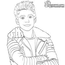Carlos Descendants 2 Coloring Pages Evie