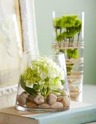 Ove The Idea Of Anchoring A Single Lush Blossom Hydrangeas Anyone Amidst Stones In Glass Cylinder Vase