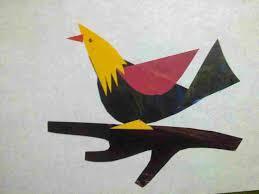 Colour Paper Art Craft Kids U Collage Bird Recycle Rhcraftandartbydeeplaxmiblogspotcom How To Fold Ninja