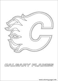 Print Calgary Flames Logo Nhl Hockey Sport Coloring Pages