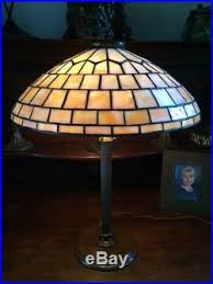 Duffner And Kimberly Lamp Base by Duffner Kimberly Arts Crafts Leaded Slag Glass Antique Lamp Handel