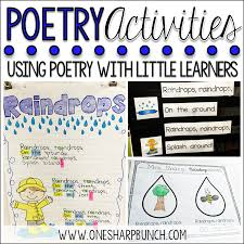 Halloween Acrostic Poems That Rhyme by Poetry Activities For The Primary Classroom One Sharp Bunch