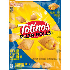 100 Golden Crust Totinos Pizza Rolls Macaroni And Cheese With Bacon In A