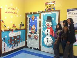 thirkell teachers spread holiday cheer with door decorating