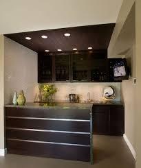 Kitchen Design Black Cabinets In Minimalist For Small Space Dark Wooden Ceiling
