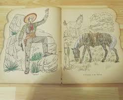 Rare The Cisco Kid Coloring Book Saalfield Publishing 1950s 1 2 Colored