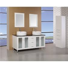 60 Inch Bathroom Vanity Single Sink Black by Design Element Dec066d W Malibu 60 Inch Single Sink Modern
