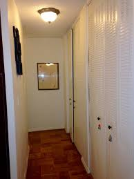 re do small hallway modernize floors walls lighting closet doors