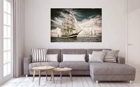 fotografie segelschiff antik leinwand canvas bild wandbild