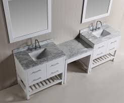 two 36 london single sink vanity set in white with one make up