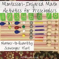 Montessori Inspired Math Activities For Preschoolers Number To Quantity Scavenger Hunt