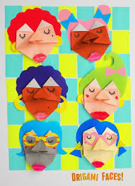 How To Fold Origami Faces With Kids Fun Craft And Art Project Step
