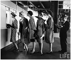 Models Stand In Line At Roosevelt Raceway 1958