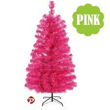 4 5 6 7 Ft Fuchsia Pink PVC Artificial Christmas Tree Unlit Multiple