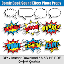 Superhero Comic Wall Decor by Comic Book Sound Effects Speech Bubbles Superhero Photo Booth