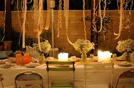 View In Gallery Ribbons Hanging Over An Outdoor Table