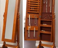 Mirrored Jewelry Box Armoire by Furniture Buy Jewelry Armoire Jewellry Mirror Oak Jewelry