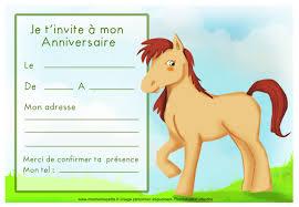 Carte Invitation Anniversaire Cheval Gratuite  Imprimer IY64