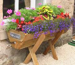 Image Of Wooden Planters Decoration Rustic Flower