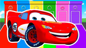 100 Sabinas Cars And Trucks MCQUEEN COLORS For Kids Learning Educational Video Bus